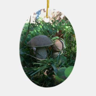 Pilze Ovales Keramik Ornament