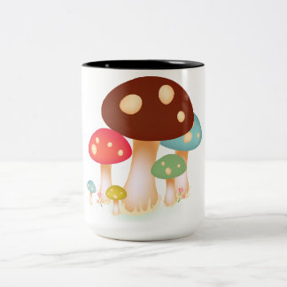 Pilze Zweifarbige Tasse