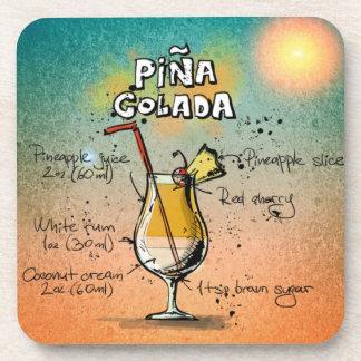 Pina Colada Cocktail-Getränk-Untersetzer Untersetzer