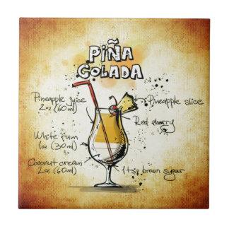 Pina Colada Cocktail-Rezept Fliese