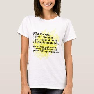 Pina Colada - Cocktail-Rezept T-Shirt