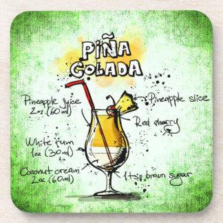 Pina Colada Getränk-Rezept Untersetzer
