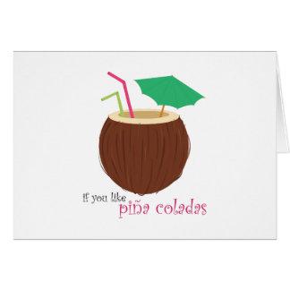 Pina Colada Karte
