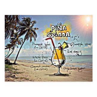 Pina Colada Postkarte