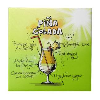 Pina Colada Rezept - Cocktail-Geschenk Fliese