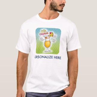 PINA COLADA REZEPT-COCKTAIL-KUNST T-Shirt