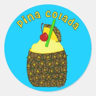 Pina Colada Runder Aufkleber