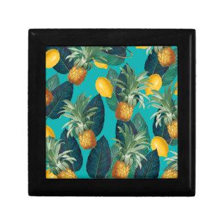 pineaple und Zitronen aquamarin Erinnerungskiste