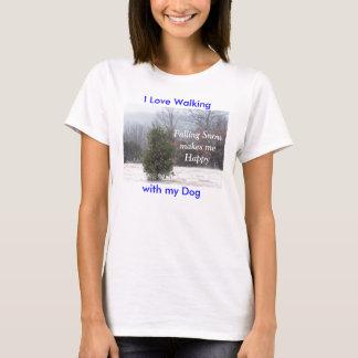 PineTree in Schneebesonders anfertigen T-Shirt