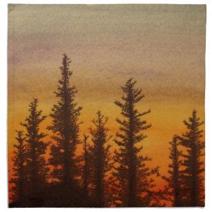 Pinetree Sonnenuntergang Serviette