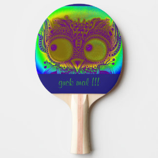 Ping Pong Paddle, Roter Gummi Back ZenZia Eule Tischtennis Schläger