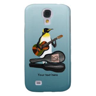 Pinguin Busking mit Jamaika-Flaggen-Gitarre Galaxy S4 Hülle