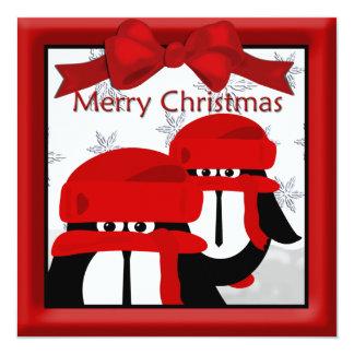 Pinguin-Freund-Weihnachtsgruß Quadratische 13,3 Cm Einladungskarte
