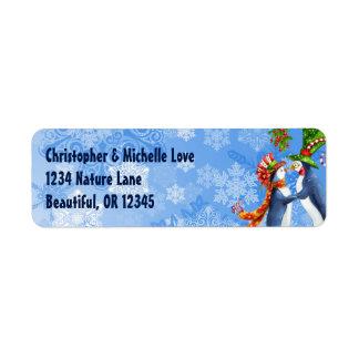 Pinguin-Paare, Mistelzweig, Schneeflocke-Adresse