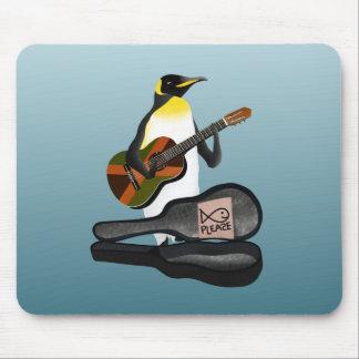 Pinguin-Reggae-Gitarre Mauspad