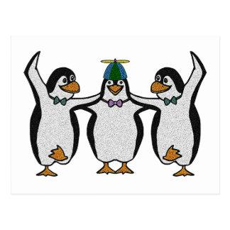Pinguin-Trio Postkarte