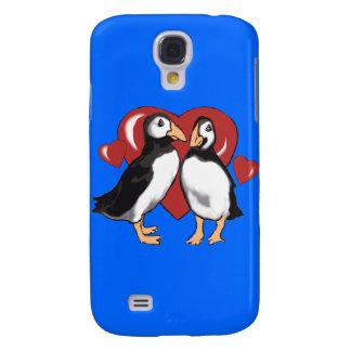 Pinguine und Herzen Galaxy S4 Hülle