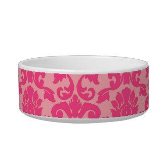 Pink-Damast-Spitze-Muster-Katzen-Schüssel Wassernäpfe Für Katzen