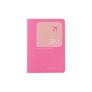 pinkfarbene rosa Reise weiblich Passhülle