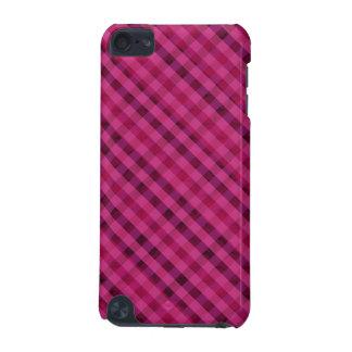 Pinkfarbenes kariertes - kundenspezifischer Fall iPod Touch 5G Hülle
