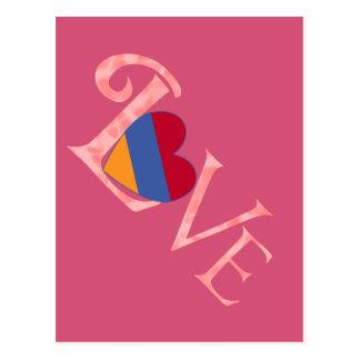 Pinkish armenische LIEBE Postkarte