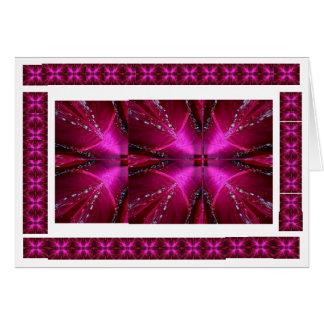PinkRose Blumenblatt-Arche - belichteter Schein Karte