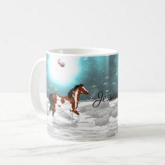 Pinto-arabisches Pferdeweihnachten Tasse