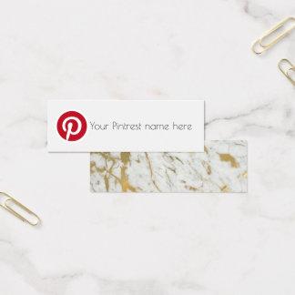 pintrest Sozialmedium-Blog-Schöpfer-Visitenkarte Mini Visitenkarte