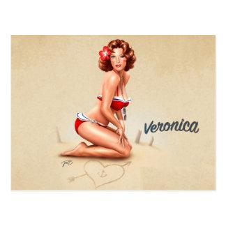 PinUp Veronica Postkarte