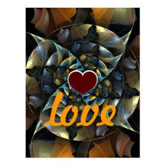 Pinwheel-Liebe-Postkarte Postkarte