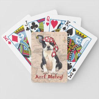 Pirat Bostons Terrier Bicycle Spielkarten