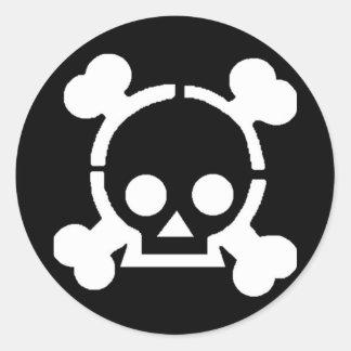 Pirat! Runder Aufkleber
