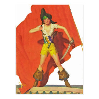 Piraten-Kamerad Postkarte