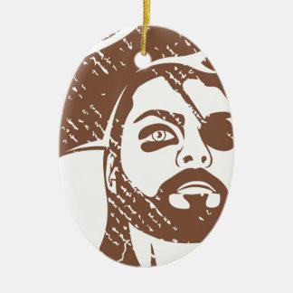 Piraten-Kapitän-Schmutz Ovales Keramik Ornament