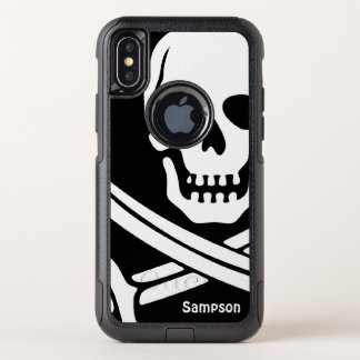 Piraten-Namensschablone OtterBox Commuter iPhone X Hülle