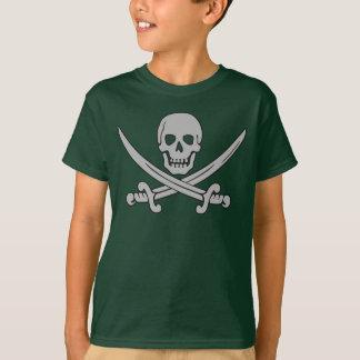 Piraten-Schädel-u. des Schwerter-Kindes T - Shirt
