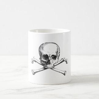 Piraten-Totenkopf mit gekreuzter Knochen Tasse