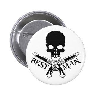 Piraten-Trauzeuge-Knopf Runder Button 5,1 Cm