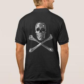 Piratenflagge-Schädel-Polo-Shirt Poloshirt