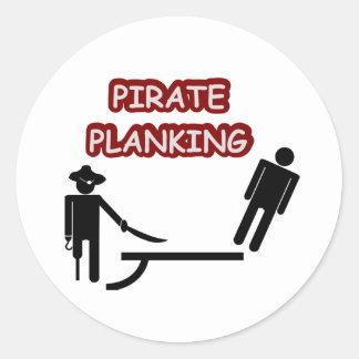 PiratPlanking Runder Aufkleber