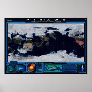 Pirawk Planeten-Atlas Poster