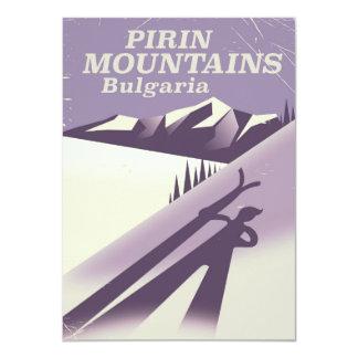Pirin Gebirgsbulgarien-Skiplakat 11,4 X 15,9 Cm Einladungskarte