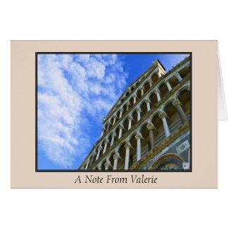 Pisa-Kathedrale mit Liebe-Zitat Karte