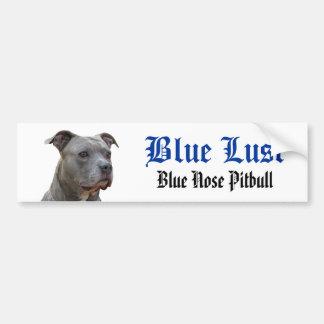 Pitbull blauer Lust-Autoaufkleber Autoaufkleber