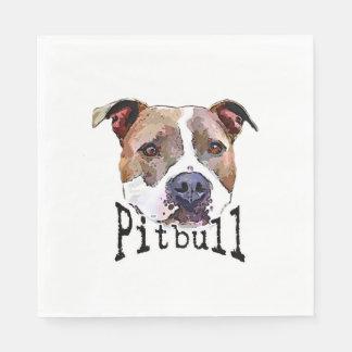 Pitbull Hund Papierservietten