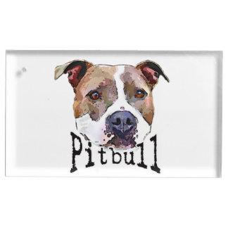 Pitbull Hund Platzkartenhalter