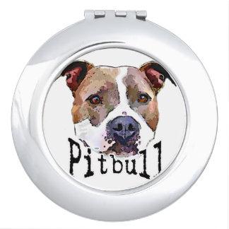 Pitbull Hund Taschenspiegel