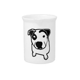 Pitbull-Knochen-Grafik Getränke Pitcher