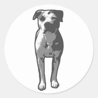 Pitbull-Knochen-Grafik Runder Aufkleber