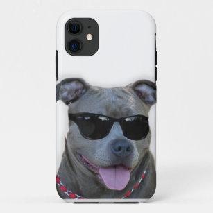 Pitbull mit Gläsern iPhone 11 Hülle